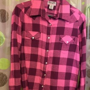 Raglan shirt women's button up medium